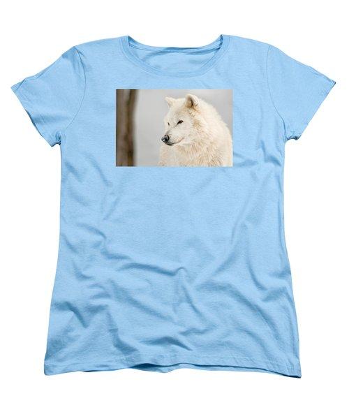 Arctic Wolf Portrait Women's T-Shirt (Standard Cut) by Michael Cummings
