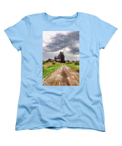 Bethlehem Steel Women's T-Shirt (Standard Cut) by Michael Dorn