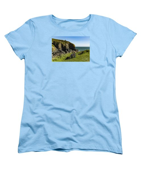 Women's T-Shirt (Standard Cut) featuring the photograph Cadgwith Cove by Brian Roscorla