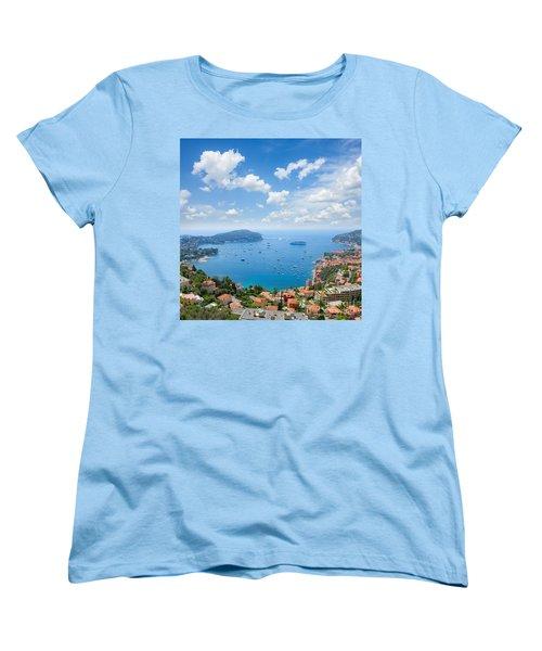 cote dAzur, France Women's T-Shirt (Standard Cut) by Anastasy Yarmolovich