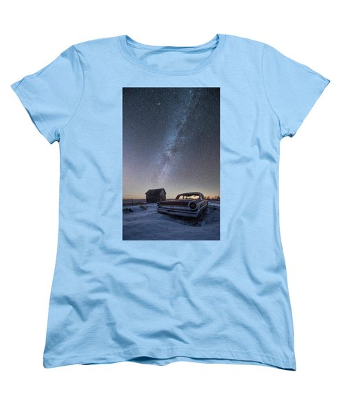 3 Galaxies  Women's T-Shirt (Standard Cut) by Aaron J Groen