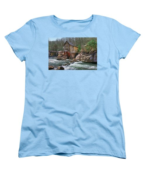 Glade Creek Grist Mill Women's T-Shirt (Standard Cut) by Mary Almond