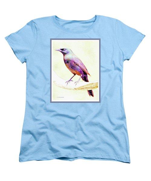 Great-tailed Grackle Women's T-Shirt (Standard Cut) by A Gurmankin