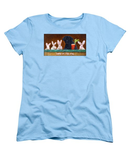 Hare Of The Dog... Women's T-Shirt (Standard Cut) by Will Bullas
