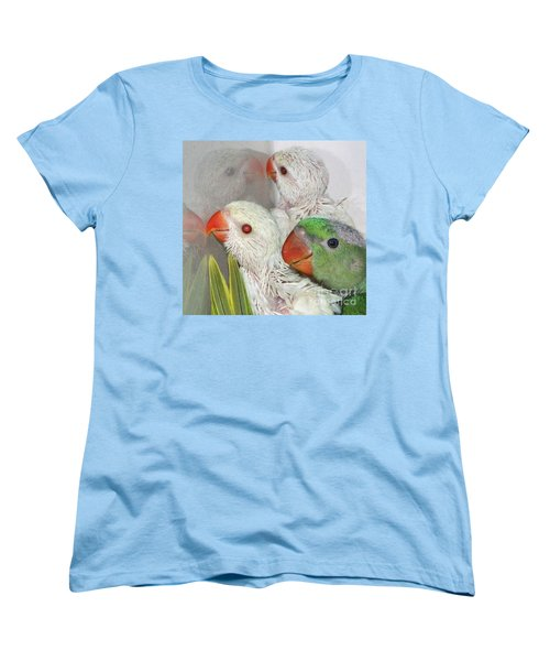 Women's T-Shirt (Standard Cut) featuring the photograph 3 Is Company 4 Is A Crowd by Debbie Stahre