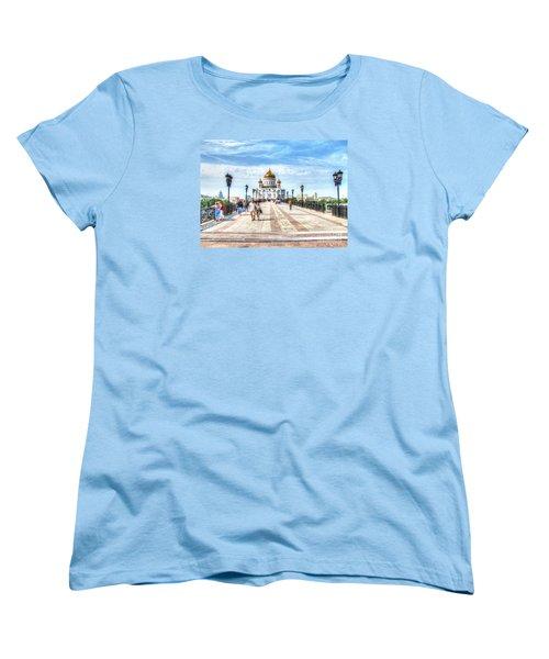 Moscow Russia Women's T-Shirt (Standard Cut) by Yury Bashkin