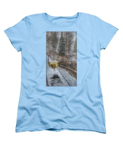 Mountain Living Women's T-Shirt (Standard Cut) by Fiona Kennard