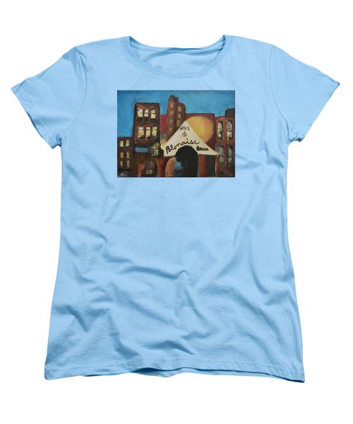 Women's T-Shirt (Standard Cut) featuring the painting Nye's Polonaise Room by Susan Stone