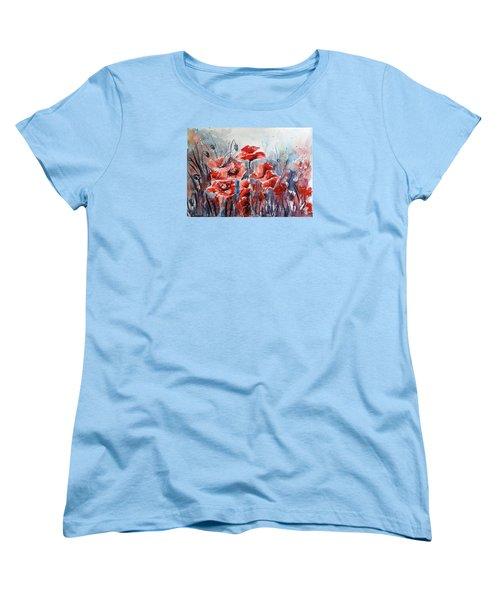 Poppies Women's T-Shirt (Standard Cut) by Kovacs Anna Brigitta