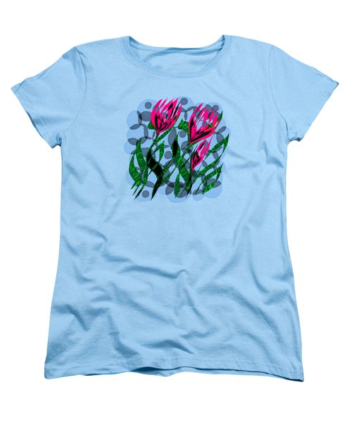 3 Posies Women's T-Shirt (Standard Cut) by Adria Trail