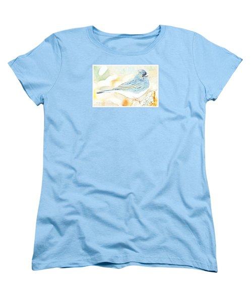 Slate-colored Junco, Snowbird, Male, Animal Portrait Women's T-Shirt (Standard Cut) by A Gurmankin
