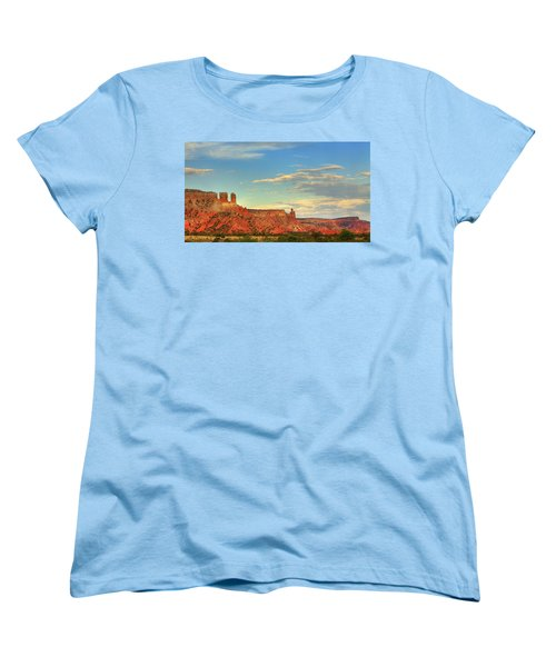 Sunset At Ghost Ranch Women's T-Shirt (Standard Cut) by Alan Vance Ley