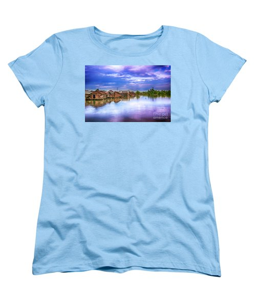 Women's T-Shirt (Standard Cut) featuring the photograph Village by Charuhas Images