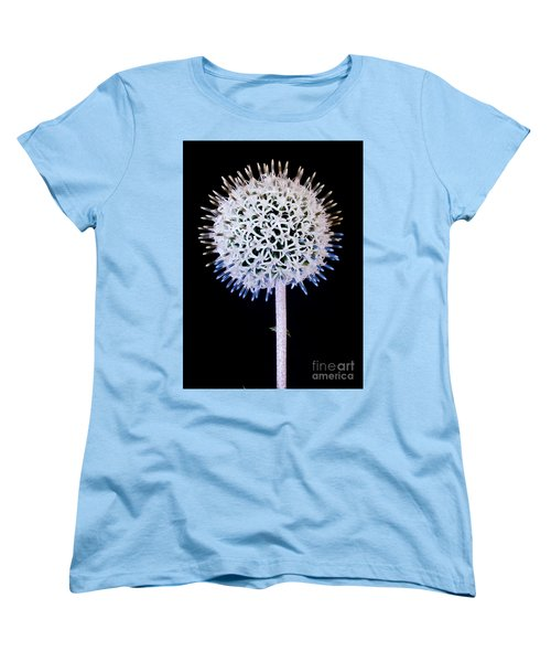 White Alium Onion Flower Women's T-Shirt (Standard Cut) by Colin Rayner