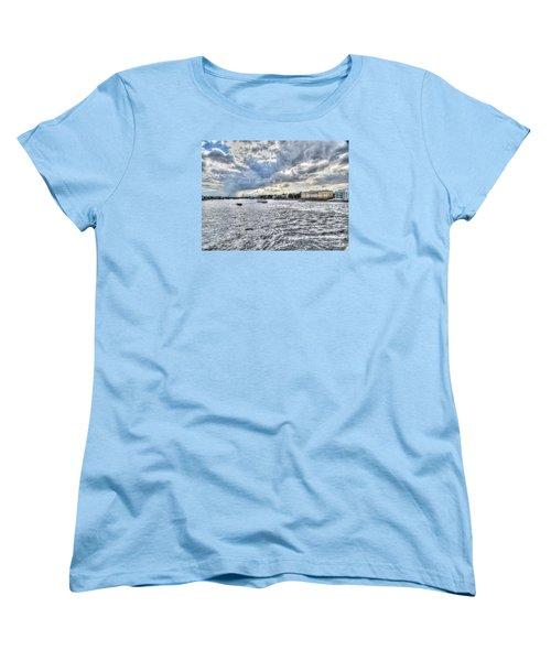 Women's T-Shirt (Standard Cut) featuring the pyrography Yury Bashkin Peterburg Russia by Yury Bashkin