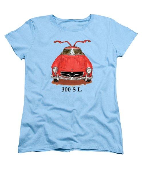 300 Sl Mercedes Benz 1955 Women's T-Shirt (Standard Cut) by Jack Pumphrey