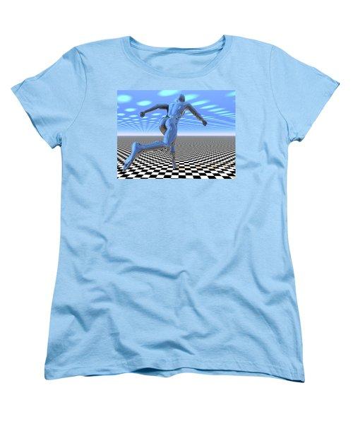 3d Runner Women's T-Shirt (Standard Cut)