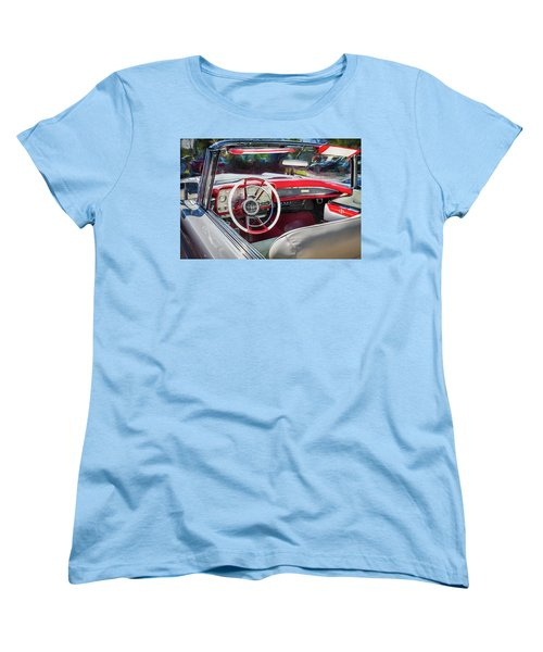 1959 Lincoln Continental Town Car Mk Iv Painted  Women's T-Shirt (Standard Cut) by Rich Franco