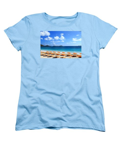 Beach Umbrellas Women's T-Shirt (Standard Cut) by Catie Canetti