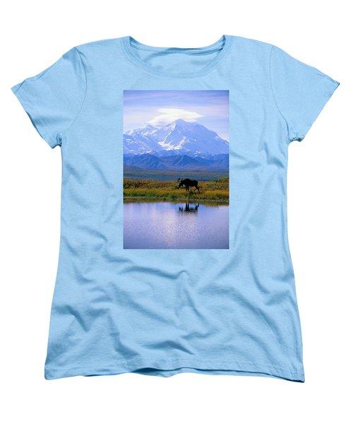 Denali National Park Women's T-Shirt (Standard Cut) by John Hyde - Printscapes