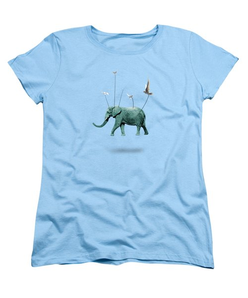 Elephant Women's T-Shirt (Standard Cut) by Mark Ashkenazi