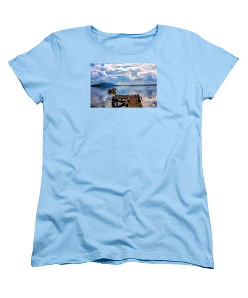 Women's T-Shirt (Standard Cut) featuring the photograph Quiet Lake by Rick Bragan