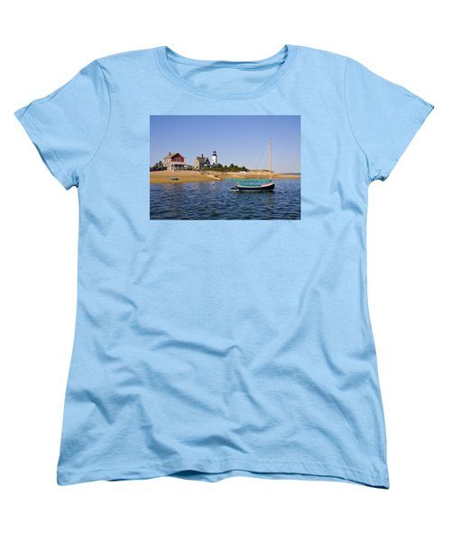 Sandy Neck Lighthouse Women's T-Shirt (Standard Cut) by Charles Harden