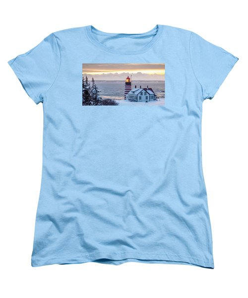 West Quoddy Lighthouse Women's T-Shirt (Standard Cut) by Trace Kittrell