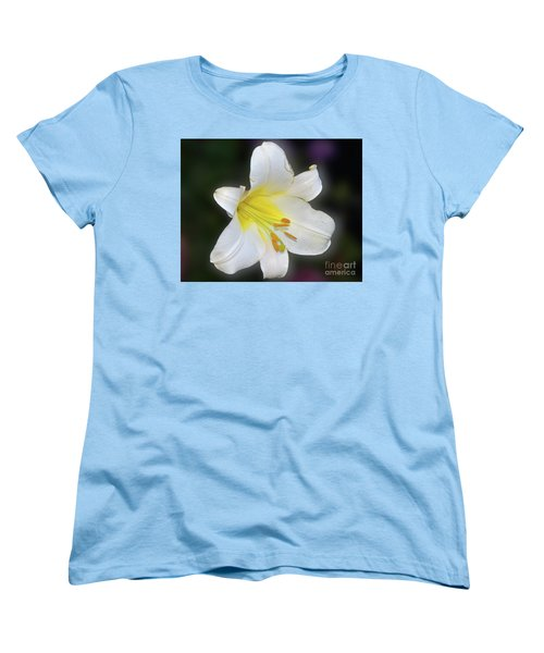 Women's T-Shirt (Standard Cut) featuring the photograph White Lily by Elvira Ladocki
