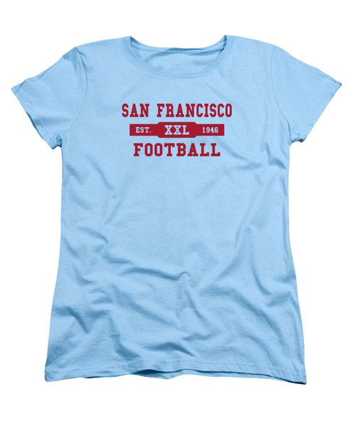 49ers Retro Shirt Women's T-Shirt (Standard Cut) by Joe Hamilton