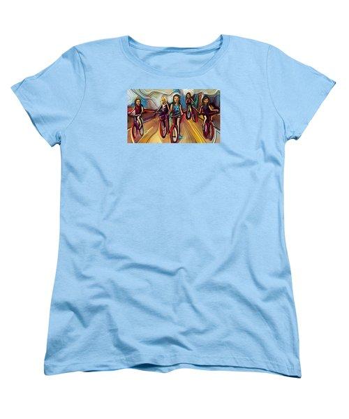 5 Bike Girls Women's T-Shirt (Standard Cut) by John Jr Gholson