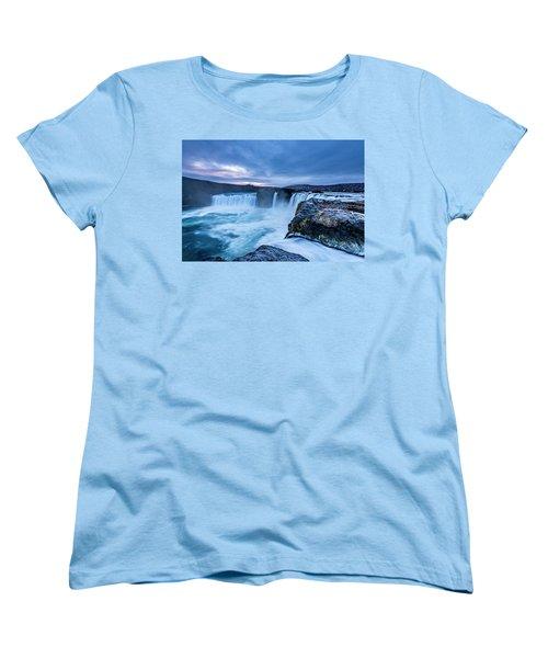 Godafoss Waterfall In Iceland Women's T-Shirt (Standard Cut) by Joe Belanger