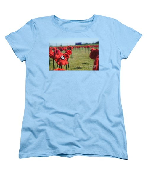 5000 Poppies Women's T-Shirt (Standard Cut) by Therese Alcorn