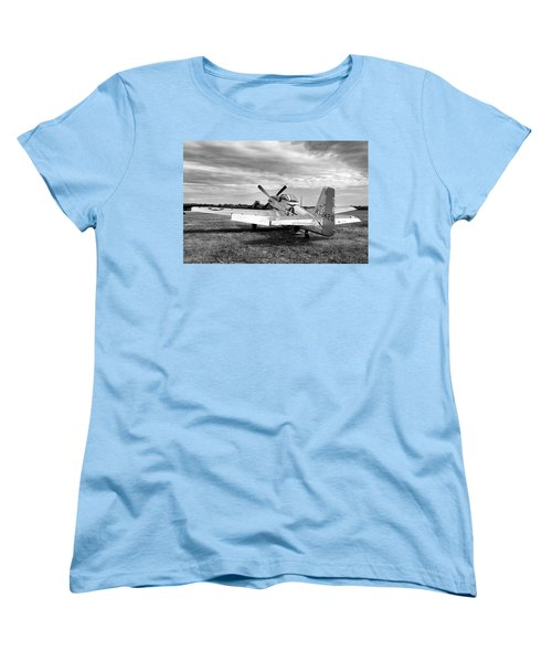 Women's T-Shirt (Standard Cut) featuring the photograph 51 Shades Of Grey by Peter Chilelli