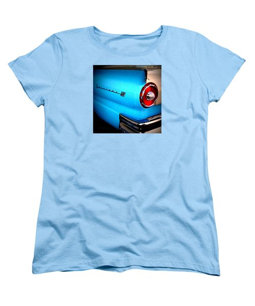 Women's T-Shirt (Standard Cut) featuring the photograph 57 Ford Fairlane  by Nick Kloepping