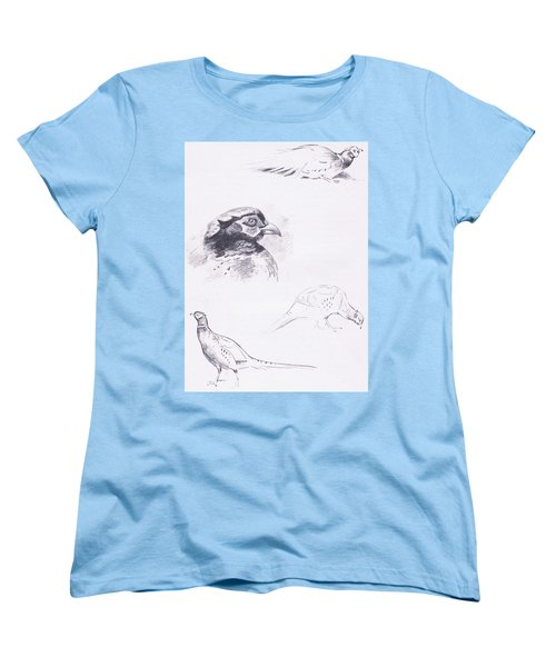 Pheasants Women's T-Shirt (Standard Cut) by Archibald Thorburn