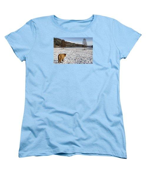 Trossachs Scenery In Scotland Women's T-Shirt (Standard Cut) by Jeremy Lavender Photography