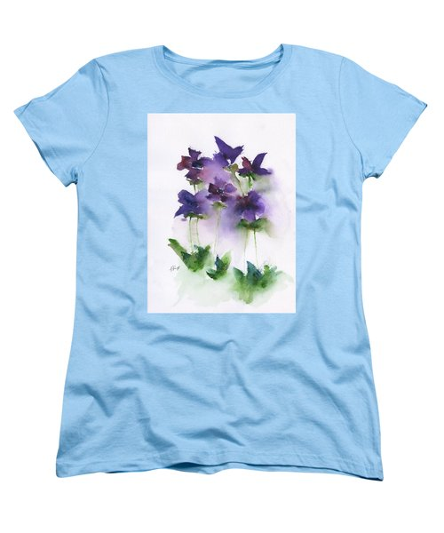 6 Violets Abstract Women's T-Shirt (Standard Cut) by Frank Bright