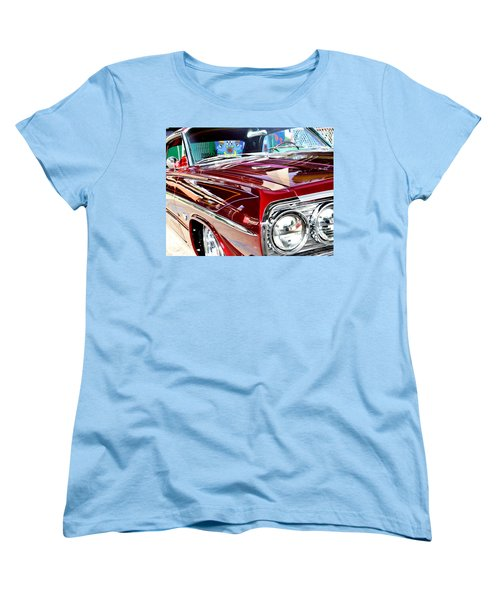 64 Chevy Impala Women's T-Shirt (Standard Cut) by Christopher Woods