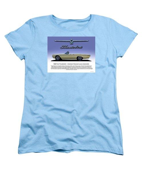 Women's T-Shirt (Standard Cut) featuring the digital art 66 T-bird Display Piece by Douglas Pittman