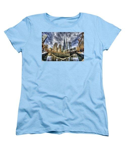 9/11 Memorial - Nyc Women's T-Shirt (Standard Cut) by Rafael Quirindongo