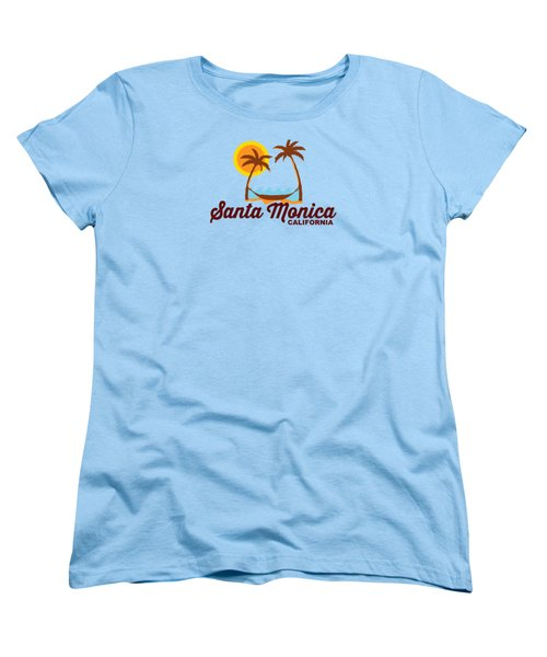 Santa Monica Women's T-Shirt (Standard Cut) by American Roadside