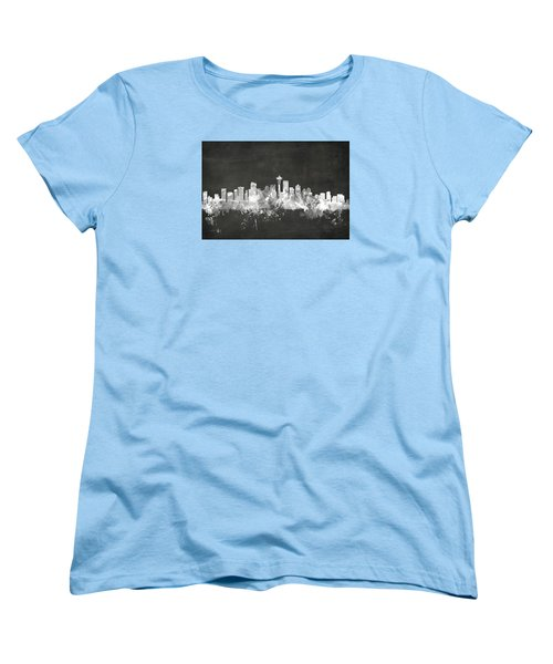 Seattle Washington Skyline Women's T-Shirt (Standard Cut) by Michael Tompsett