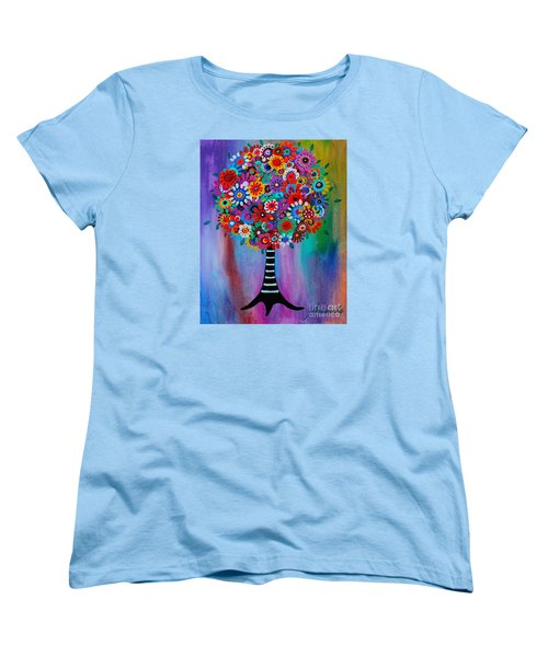 Women's T-Shirt (Standard Cut) featuring the painting Tree Of Life by Pristine Cartera Turkus