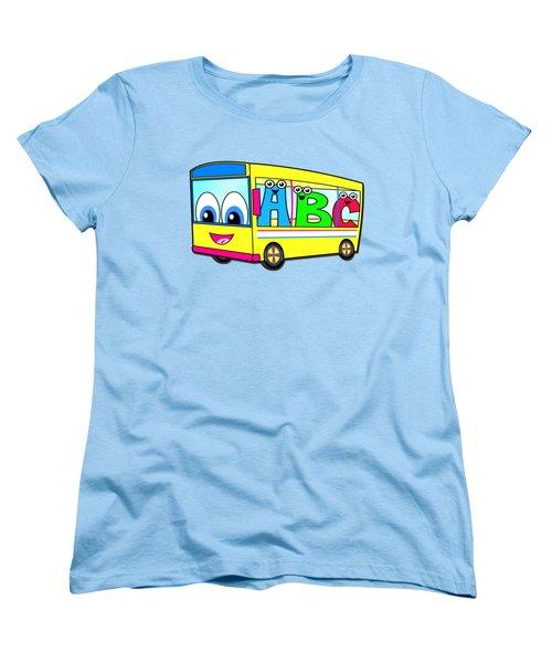 A B C Bus T-shirt Women's T-Shirt (Standard Cut) by Herb Strobino