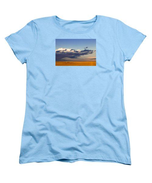 Women's T-Shirt (Standard Cut) featuring the photograph A Barn On The Prairie by Monte Stevens