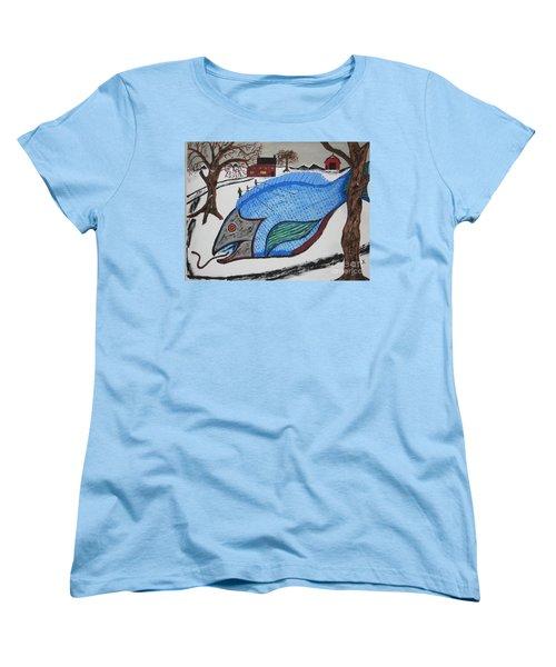 Women's T-Shirt (Standard Cut) featuring the painting A Big Fish Tale by Jeffrey Koss
