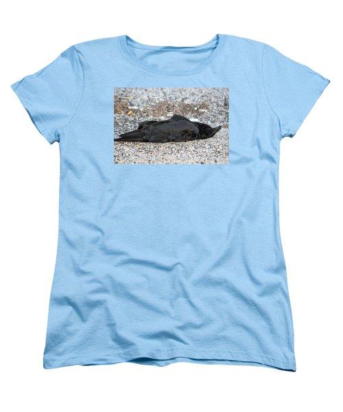 Women's T-Shirt (Standard Cut) featuring the photograph A Birds Eye View Of   The End by Paul SEQUENCE Ferguson             sequence dot net