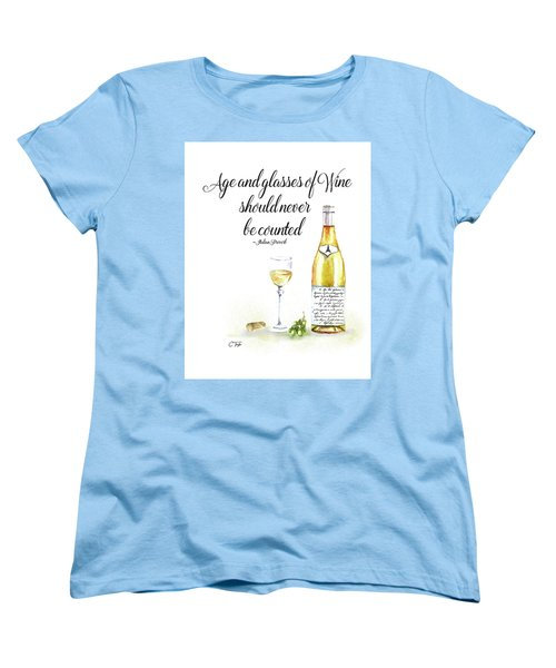 A Bottle Of White Wine Women's T-Shirt (Standard Cut) by Colleen Taylor