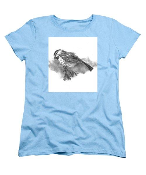 A Chickadee Named Didi Women's T-Shirt (Standard Cut) by Dawn Senior-Trask